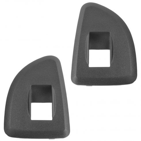 09-13 Silverado, Sierra 1500, 2500HD, 3500HD w/Ext Cab Rear Door Ebony Window Switch Bezel Pair (GM)