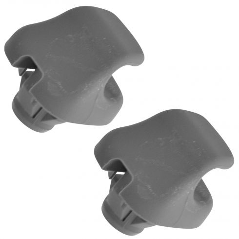 97-08 Civic; 98-06 Accord; 03 Pilot; 03-11 Element Gray Inner Sunvisor Holder Clip Pair(Honda)