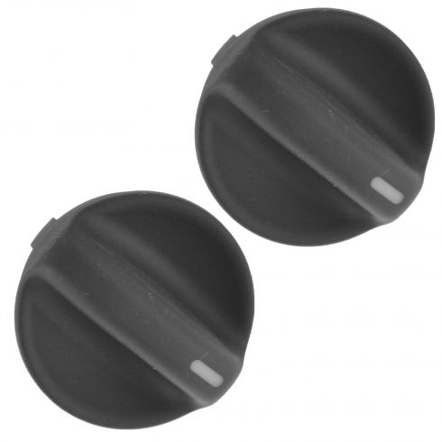 94-97 Honda Accord Molded Black Plastic Temperature or Fan Speed Control Knob Pair (Honda)