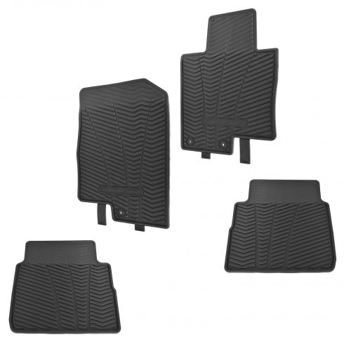 11-14 Sonata, Sonata Hybrid Molded Black Rubber Front & Rear Floor Mat (Set of 4) (Hyundai)
