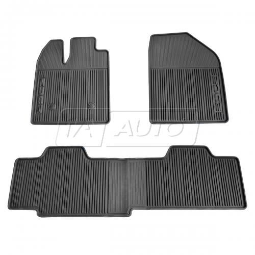 11-14 Ford Edge Front & Rear All Weather Black Rubber Floor Mat SET (FORD)