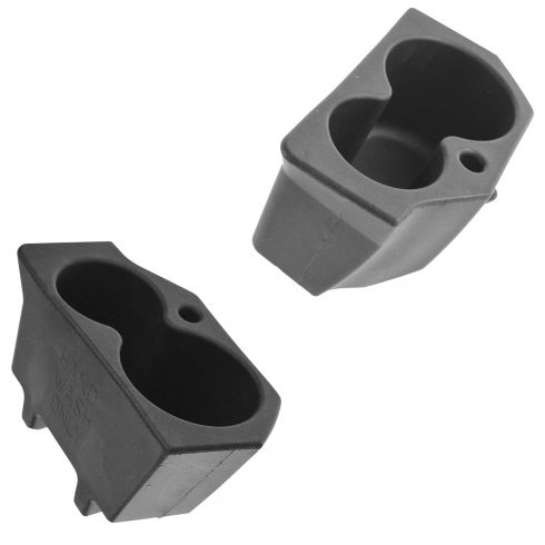 09-14 Dodge Ram 1500; 10-14 Ram 2500, 3500 Door Panel Mtd Dual Foam Cup Holder Insert Pair (Mopar)