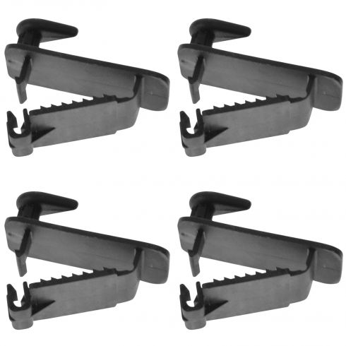 05-14 Chryslr, Ddge, Jeep, Ram Multfit Frnt Flr Mat or Carpet Retainer Clip Hook Set of 4(Mpr)