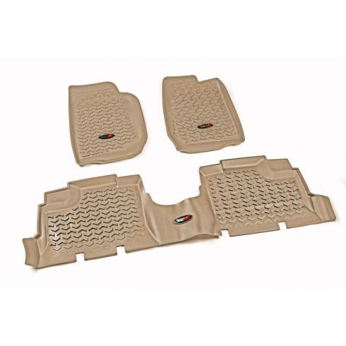 07-13 Jeep Wrangler 4DR w/LHD Tan Kit Floor Liner (Rugged Ridge)