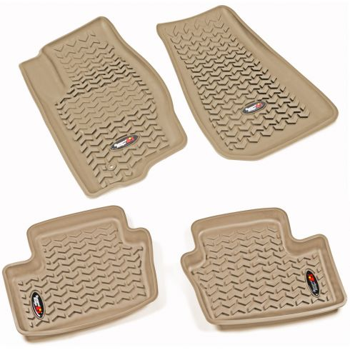 07-12 Caliber; 07-14 Compass, Patriot Tan Front & Rear Floor Liner (Set of 4) (Rugged Ridge)