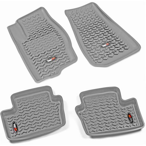 07-12 Caliber; 07-14 Compass, Patriot Gray Front & Rear Floor Liner (Set of 4) (Rugged Ridge)