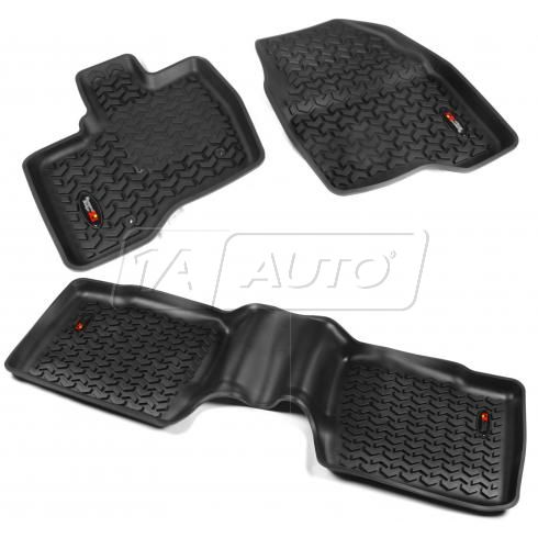 11-14 Ford Explorer Black Front & Rear Floor Liner (Set of 4) (Rugged Ridge)