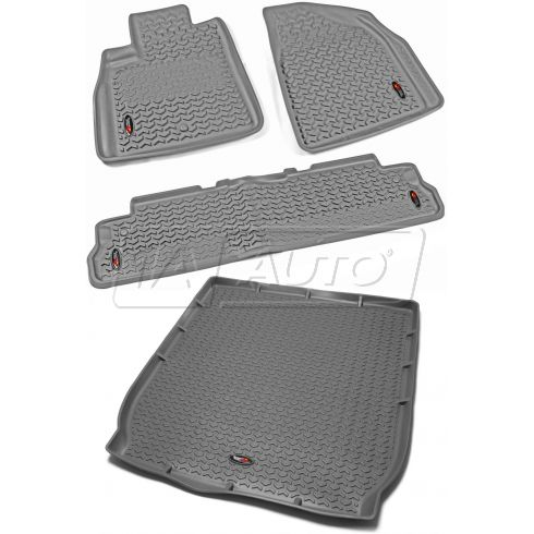 08-14 Buick Enclave; 09-14 Chevy Traverse Gray Front, Rear, & Cargo Liner (Set of 4) (Rugged Ridge)