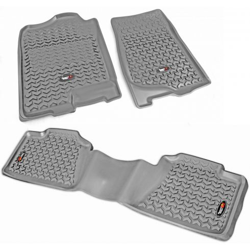 07-14 GM Fullsize Crew Cab Pickup Gray Front & Rear Floor Liner (Set of 3) (Rugged Ridge)