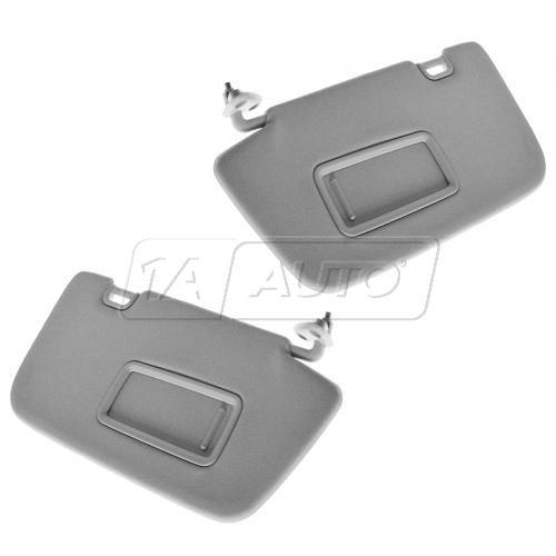 08-14 Subaru Impreza, Impreza WRX, Impreza WRX STi Gray Sunvisor w/Mirror PAIR (Subaru)