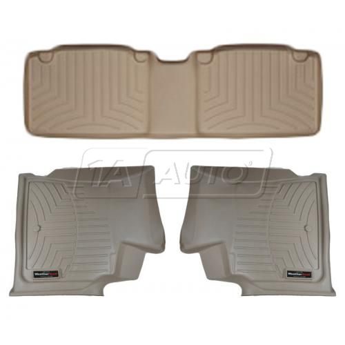 Tan Buick Enclave/Chevy Traverse/GMC Acadia/Saturn Outlook Floor Liner Set