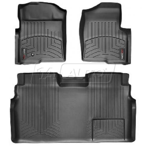Black Ford Super Cab 2011+ Floor Liner Set