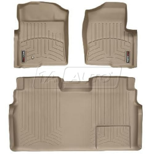 Tan Ford Super Crew 2011+ Floor Liner Set