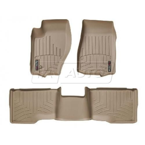 2005-10 Grand Cherokee, 06-10 Commander Tan Front & Rear Floor Liner Set