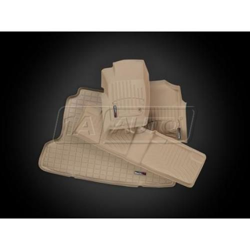 2005-10 Grand Cherokee, 06-10 Commander Tan Front, Rear, Cargo Floor Liner Set