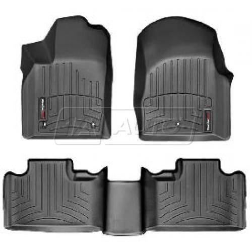 2011- Jeep Grand Cherokee Black Front & Rear Floor Liner Set