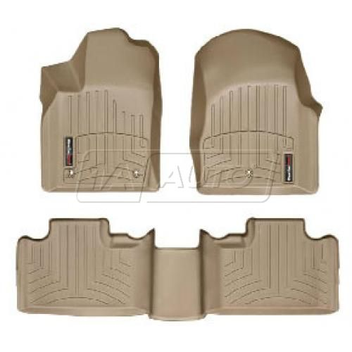 2011- Jeep Grand Cherokee Tan Front & Rear Floor Liner Set