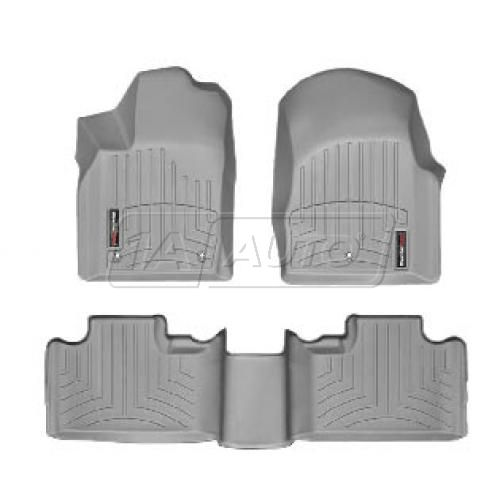 2011- Jeep Grand Cherokee Gray Front & Rear Floor Liner Set