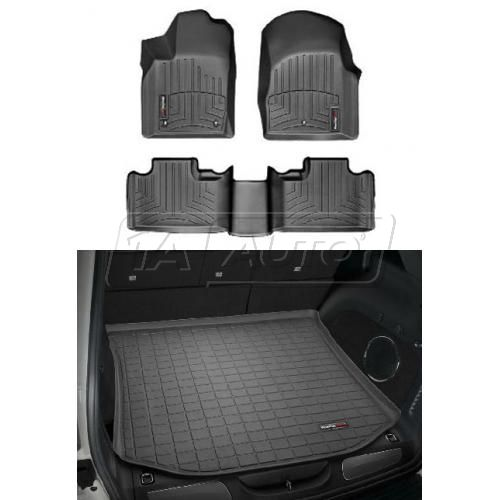 2011- Jeep Grand Cherokee Black Front, Rear, Cargo Floor Liner Set
