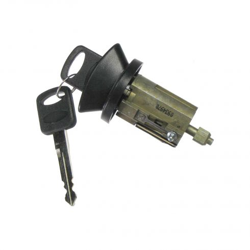 1996-07 Ford Lincoln Mercury Multifit Ignition Lock Cylinder w/Key & Black Finish