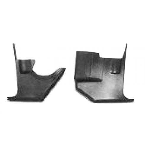 1970-74 Challenger Barracuda Interior Kick Panels Pair Black