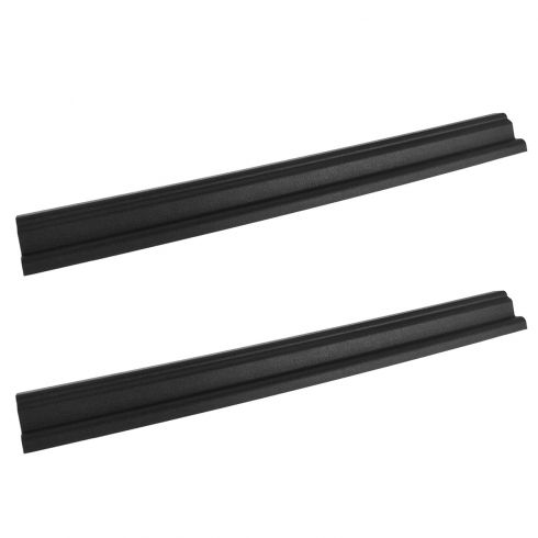 97-06 Jeep Wrangler Front Door Black Sill Plate PAIR