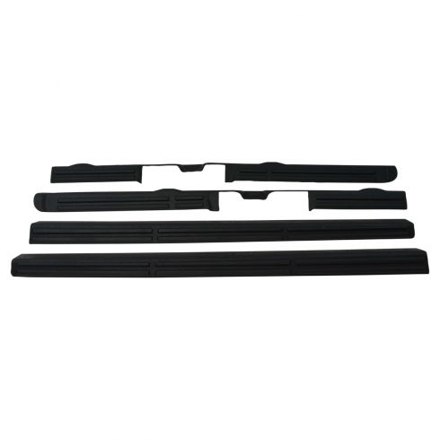 99-07 Silverado, Sierra 1500; 01-07 2500, 3500 Ext Cab Black Door Sill/Scuff Plate (Set of 4) (GM)
