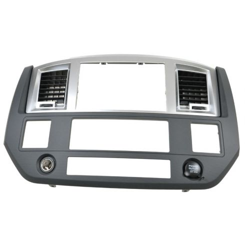 06-08 Dodge Ram 1500; 06-09 2500 3500 Dash Navigation Radio Bezel Assy (Gray & Silver) (MOPAR)