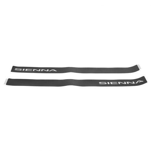 11-15 Toyota Sienna Textured Black ~SIENNA~ Logoed Front Door Sill Protector Applique PAIR (Toyota)