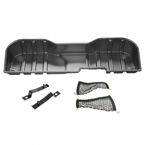 14-15 Silverado, Sierra 1500-3500 Crew Cab Rear Underseat Molded Plastic Storage Box (GM)