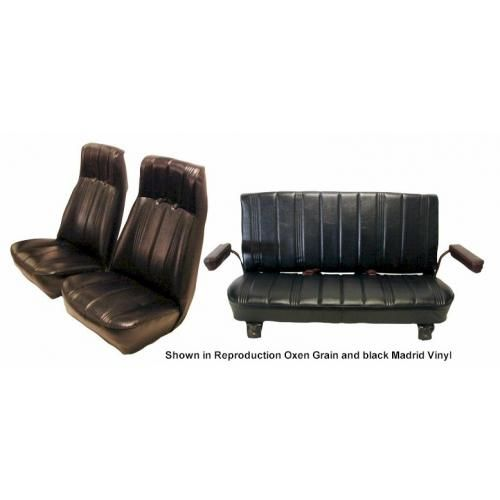1973-87 Jimmy Blazer Seat Upholstery Front High Back Buckets and Rear Bench Vinyl