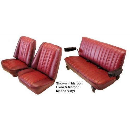 1973-87 Front Low Back Buckets and Rear Bench Cloth Seat Upholstery