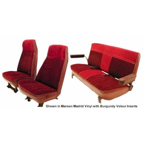 1973-87 Front High Back Buckets and Rear Bench Cloth Seat Upholstery