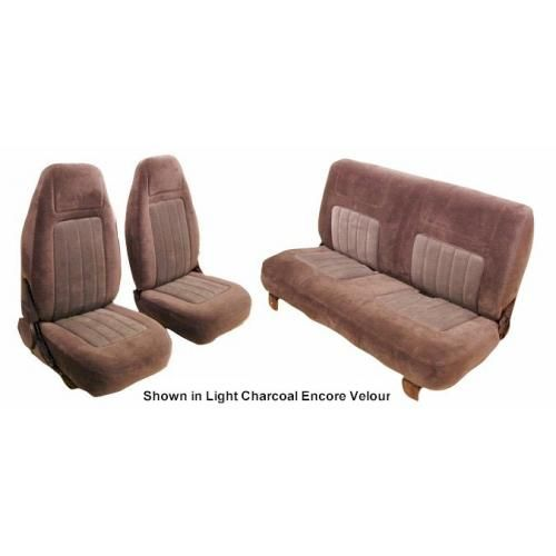 1987-91 Front Buckets and Rear Bench Cloth Seat Upholstery
