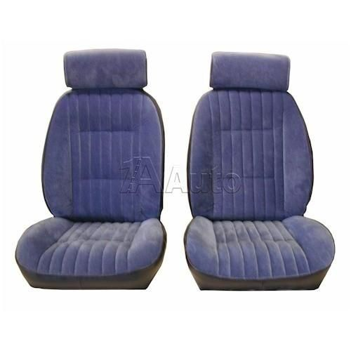 1982-1987 El Camino Caballero European Reclining Bucket Seat Upholstery with Head Rests in Cloth & Vinyl