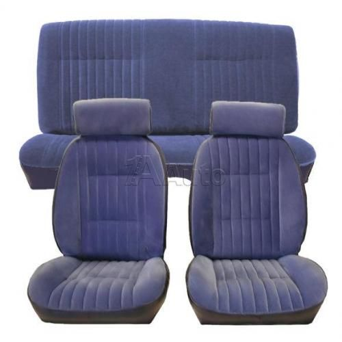 1982-1987 GM G Body European Reclining Bucket Seat Upholstery with Head Rests in Cloth & Vinyl