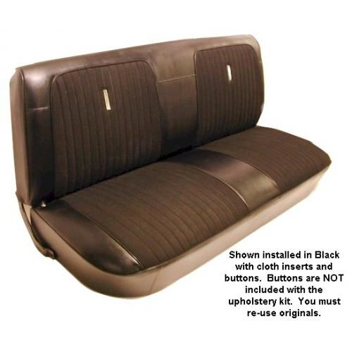 1967-72 Ford Truck Custom Cloth Seat Upholstery