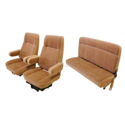 1980-86 Bronco High Back Bucket Seat Cover Set Cloth