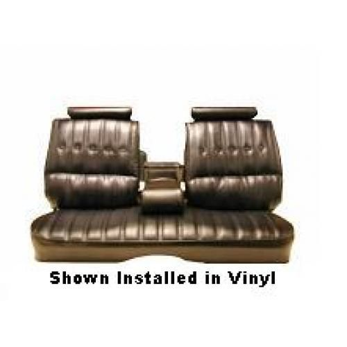 1973-77 El Camino Sprint Bench Seat Upholstery 2 Tone Vinyl with Center Armrest in Oxen Grain and Madrid Grain Vinyl