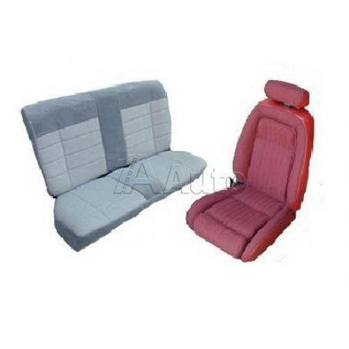 1990-91 Ford Mustang GT Coupe Seat Cover Upholstery Kit Cloth & Vinyl Combination