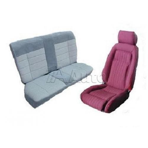 1987-89 Ford Mustang GT Coupe Seat Cover Upholstery Kit Cloth & Vinyl Combination