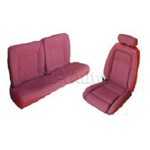 1990-91 Ford Mustang GT Hatchback Seat Cover Upholstery Kit Cloth & Vinyl Combination