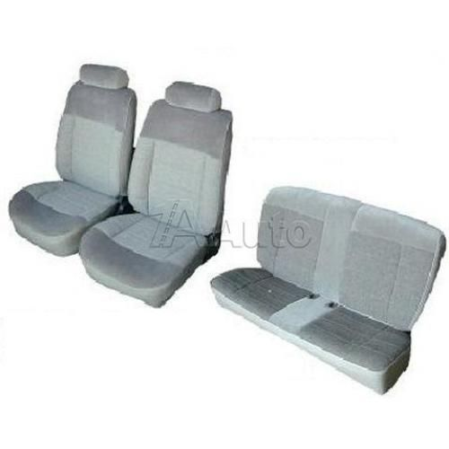 1983-93 Ford Mustang Coupe Seat Cover Upholstery Kit Cloth & Vinyl Combination