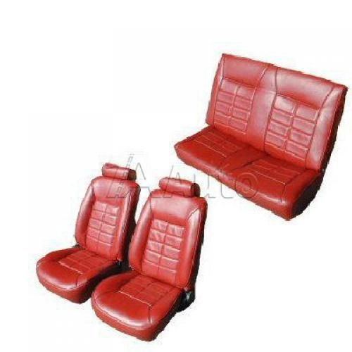 1984-86 Ford Mustang Convertible Seat Cover Upholstery Kit Cloth & Vinyl Combination
