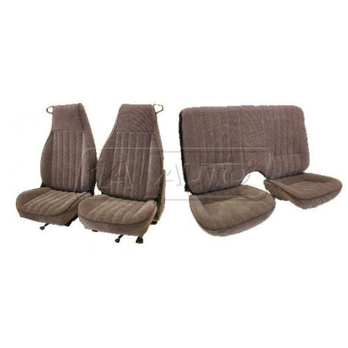 82-84 Pontiac Firebird Seat Upholstery in Regal Velour for Solid Rear Seat