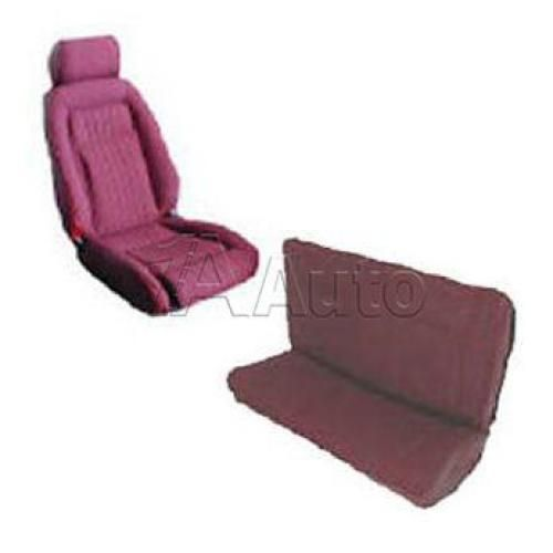 1987-89 Ford Mustang GT Convertible Seat Cover Upholstery Kit Cloth & Vinyl Combination