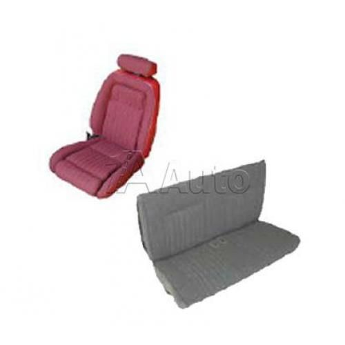1990-91 Ford Mustang GT Convertible Seat Cover Upholstery Kit Cloth & Vinyl Combination