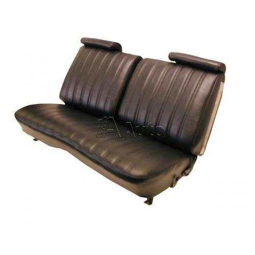 1973-77 El Camino Sprint Bench Seat Upholstery Combination Encore Velour and Madrid Grain Vinyl