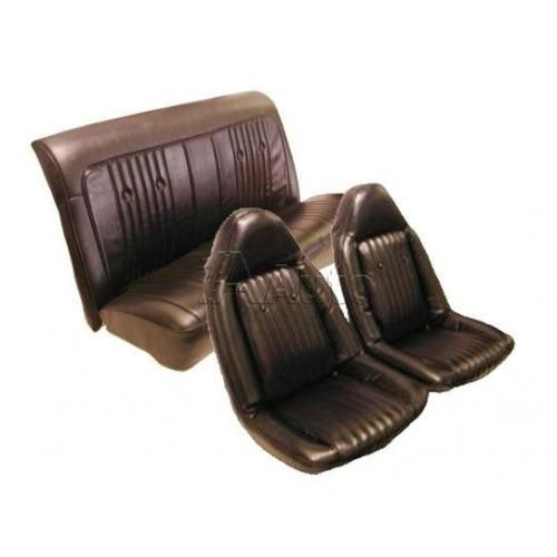 1973 Chevelle Monte Carlo Cutlass Grand Prix Regal Swivel Bucket Seat Upholstery Set Combination Oxen and Madrid Grain Vinyl