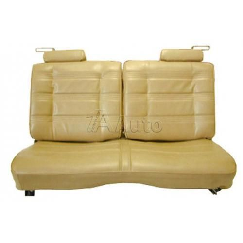 1978-80 El Camino Caballero Seat Upholstery Straight Bench With 50/50 Split Back & Head Rests in Cloth and Vinyl